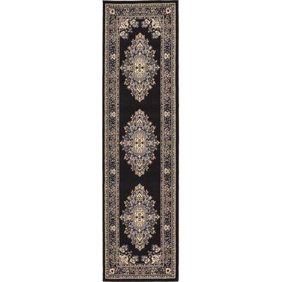 Britain Black Area Rug Rug Size: Runner 22 x 82