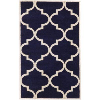 Moore Navy Blue Area Rug Rug Size: 33 x 53