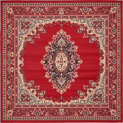 Charlie Red Area Rug Rug Size: Square 8