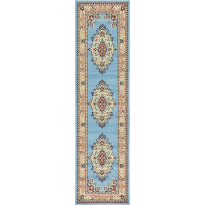 Bayer Blue/Beige Area Rug Rug Size: Runner 2'7