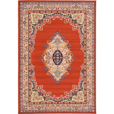 Astral Terracotta Area Rug Rug Size: Runner 2'2