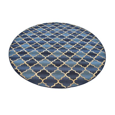 Alice Blue Indoor/ Outdoor Area Rug Rug Size: Round 8