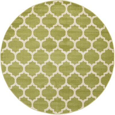 Moore Light Green Area Rug Rug Size: Round 33