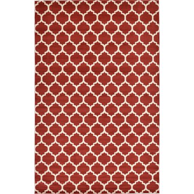 Emjay Rust Red Area Rug Rug Size: 106 x 165