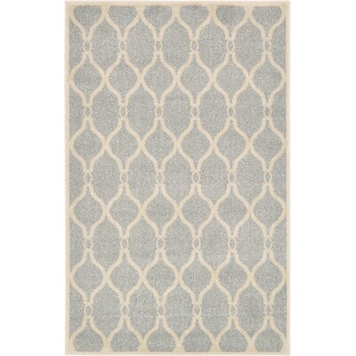 Moore Light Gray Area Rug Rug Size: 33 x 53