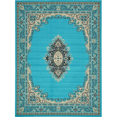 Britain Turquoise Area Rug Rug Size: Rectangle 910 x 13