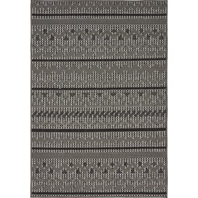 Lulu Yellow Pine Gray Outdoor Area Rug Rug Size: 4 x 6