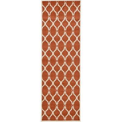 Molly Terracotta Area Rug Rug Size: Runner 27 x 8