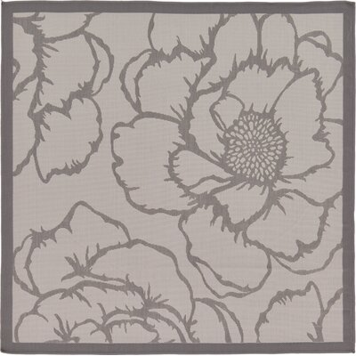 Amelia Gray Outdoor Area Rug Rug Size: Square 6