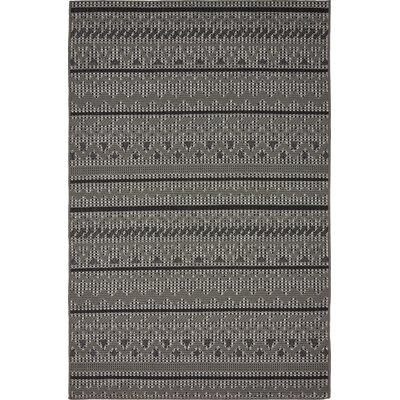 Lulu Yellow Pine Gray Outdoor Area Rug Rug Size: 5 x 8