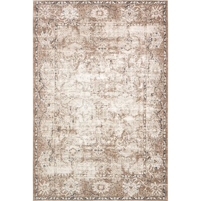 Abbeville Machine Beige Woven Area Rug Rug Size: Rectangle 6 x 9