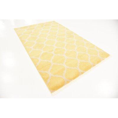 Moore Yellow Area Rug Rug Size: 5 x 8
