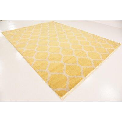 Moore Yellow Area Rug Rug Size: Rectangle 9' x 12'