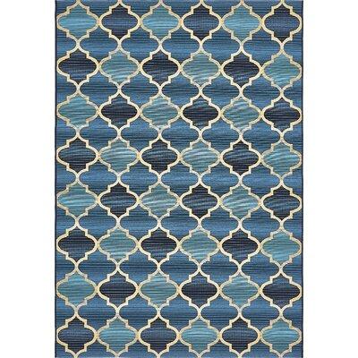 Alice Blue Indoor/ Outdoor Area Rug Rug Size: Rectangle 53 x 8