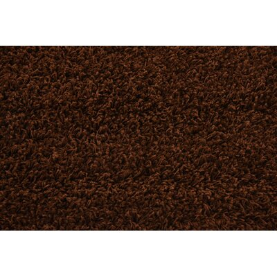 Chandler Solid Shag Brown Area Rug Rug Size: Round 6