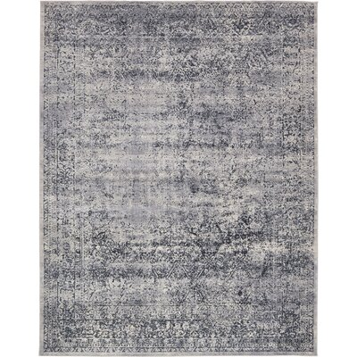 Abbeville Eclectic Dark Gray Area Rug Rug Size: Rectangle 6 x 9