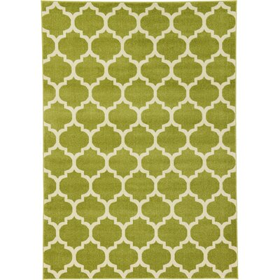 Emjay Light Green Area Rug Rug Size: 7 x 10