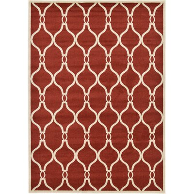 Molly Red Area Rug Rug Size: Rectangle 7 x 10