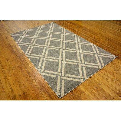 Seagate Gray Area Rug Rug Size: 9 x 12