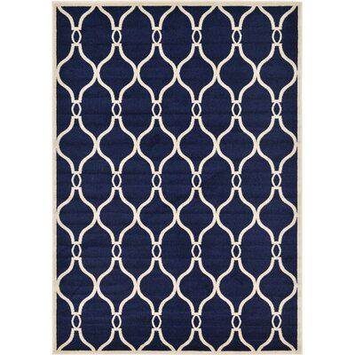 Molly Navy Blue Area Rug Rug Size: 7 x 10