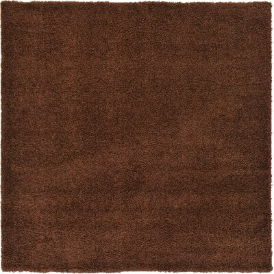 Chandler Solid Shag Brown Area Rug Rug Size: 82 x 82