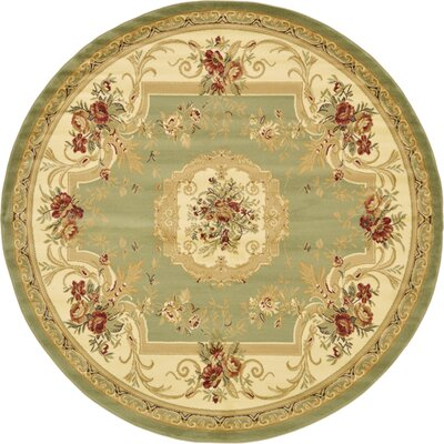 Patton Green Area Rug Rug Size: Round 8