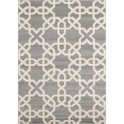 Moore Gray Area Rug Rug Size: 7 x 10