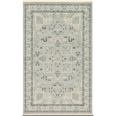Jana Rectangle Gray Area Rug Rug Size: Rectangle 5 x 8