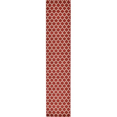 Emjay Rust Red Area Rug Rug Size: Runner 27 x 13
