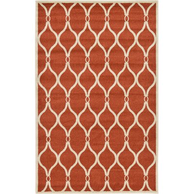 Molly Terracotta Area Rug Rug Size: Rectangle 5 x 8