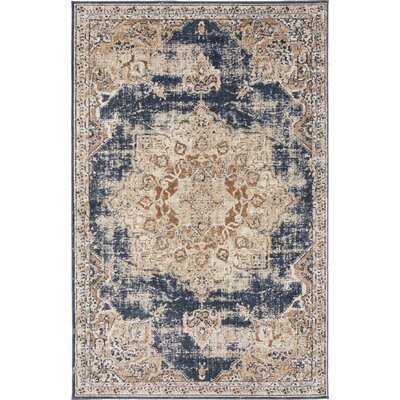 Abbeville Blue Area Rug Rug Size: 4 x 6