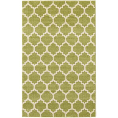 Emjay Light Green Area Rug Rug Size: 5 x 8