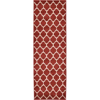 Emjay Rust Red Area Rug Rug Size: Runner 2 x 6