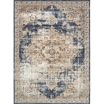 Abbeville Blue Area Rug Rug Size: 9 x 12