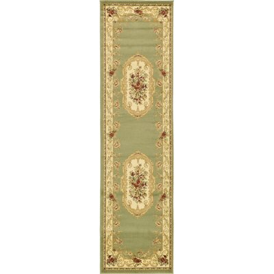 Patton Green Area Rug Rug Size: Runner 27 x 10
