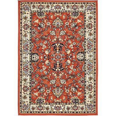 Concord Terracotta Area Rug Rug Size: 4 x 6