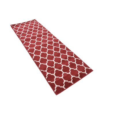 Moore Red Area Rug Rug Size: Runner 27 x 13