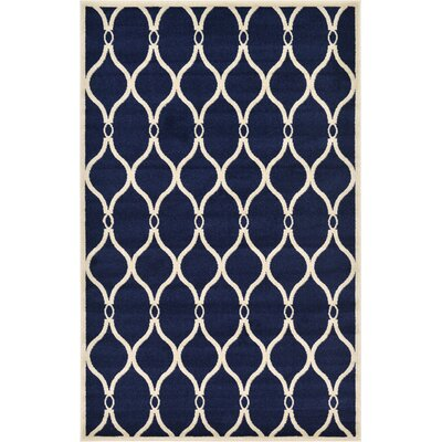 Molly Navy Blue Area Rug Rug Size: 5 x 8