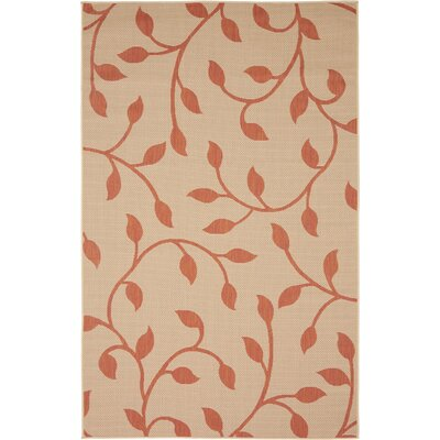 Nesbitt Beige/Terracotta Outdoor Area Rug Rug Size: Rectangle 5 x 8