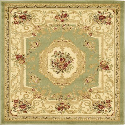 Patton Green Area Rug Rug Size: Square 4
