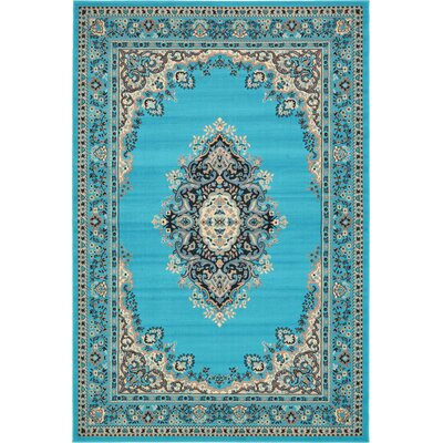 Britain Turquoise Area Rug Rug Size: Rectangle 6 x 9