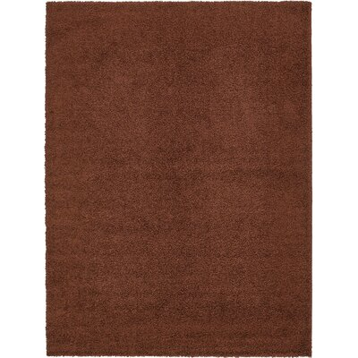 Chandler Solid Shag Brown Area Rug Rug Size: 9 x 12