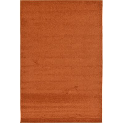 Sellman Rust Red Area Rug Rug Size: Rectangle 67 x 910