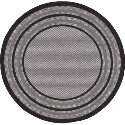 Gerhard Gray Outdoor Area Rug Rug Size: Round 6