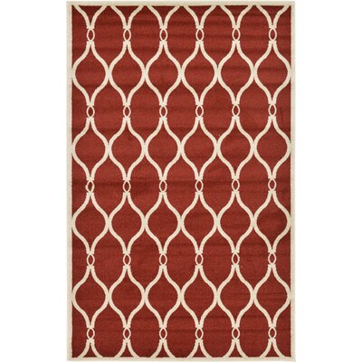 Molly Red Area Rug Rug Size: Rectangle 5 x 8