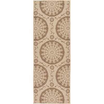 Foreside Beige Outdoor Area Rug Rug Size: Runner 22 x 6