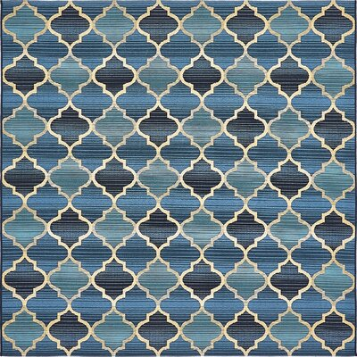 Alice Blue Indoor/ Outdoor Area Rug Rug Size: Square 6