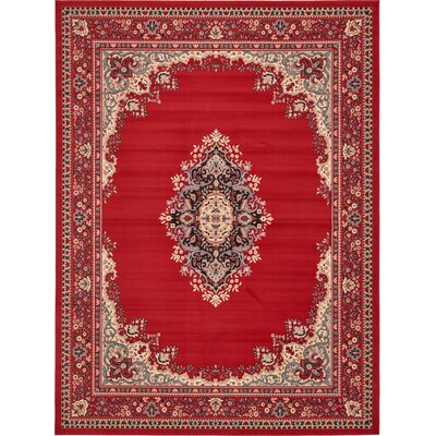 Charlie Red Area Rug Rug Size: Rectangle 6 x 9