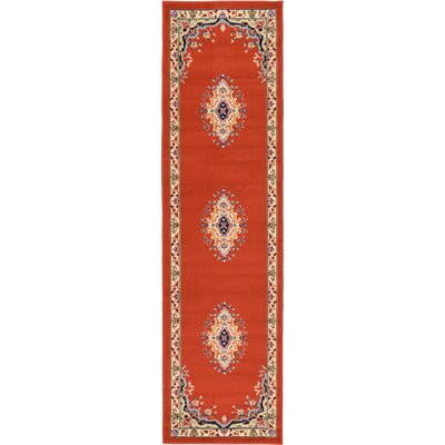 Astral Terracotta Area Rug Rug Size: Runner 22 x 82