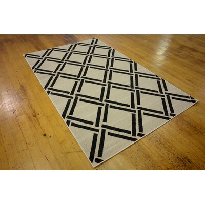 Storyvale Beige Area Rug Rug Size: Rectangle 5 x 8
